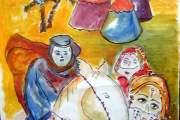 Arabo-a-cavallo-aE-olio-su-tela-2001