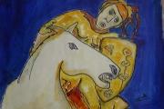 Cavaliere su cavallo bianco-olio su tela-2001