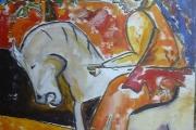 Il cavaliere-olio su tela-2001