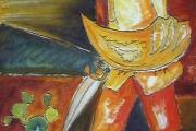 Il paladino- olio su tavola di legno-2001