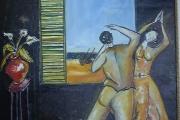 Danzatori- olio su tela- 54X67- 1999