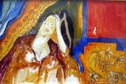 Figura in interno-olio su tela 73,5X47,5-1999