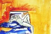 Nudo- olio su tela-16X13-1992-