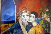 abbraccio- olio su tela- 70X50-1994