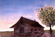 Alba-olio su cartone telato-20X30-nov.1964
